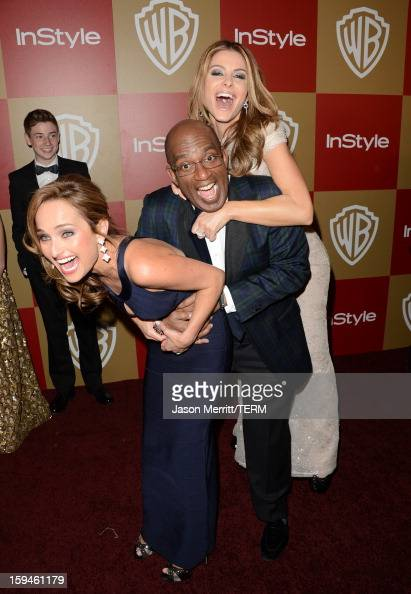 TV personalities Giada De Laurentiis Al Roker and Maria Menounos attends the 14th Annual Warner Bros And InStyle Golden Globe Awards After Party held...