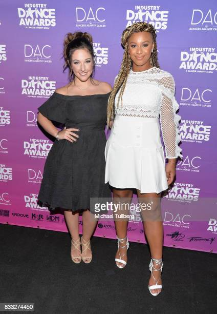 TV personalities Gianna Martello and Nia Sioux attend the 2017 Industry Dance Awards and Cancer Benefit Show at Avalon on August 16 2017 in Hollywood...