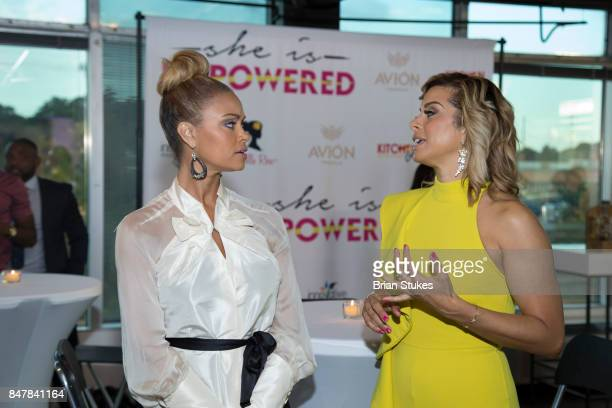 TV personalities Gizelle Bryant and Robyn Dixon attend 'She Is Empowered' Business Branding and Wealth Building Dinner Series at Loft 5900 on...