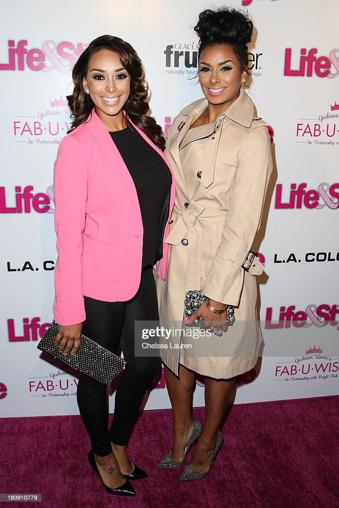 TV personalities <a gi-track='captionPersonalityLinkClicked' href=/galleries/search?phrase=Gloria+Govan&family=editorial&specificpeople=7070564 ng-click='$event.stopPropagation()'>Gloria Govan</a> (L) and Laura Govan arrive at Life & Style's Hollywood in Bright Pink event hosted by Giuliana Rancic at Bagatelle on October 9, 2013 in Los Angeles, California.