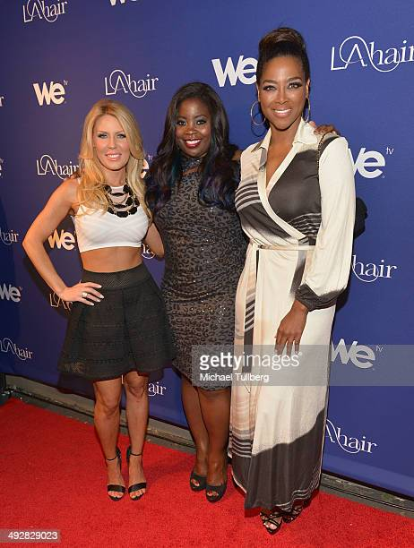 TV personalities Gretchen Rossi singer Ashly Williams and Kenya Moore attend the premiere event for Season 3 of LA tv's 'LA Hair' show at Kimble Hair...