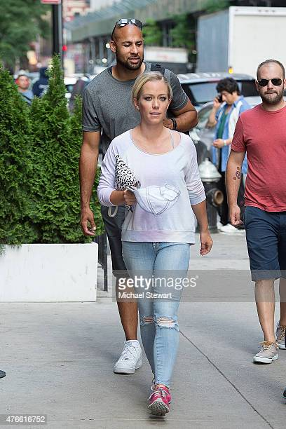 TV personalities Hank Baskett and Kendra Wilkinson seen on the streets of Manhattan on June 10 2015 in New York City