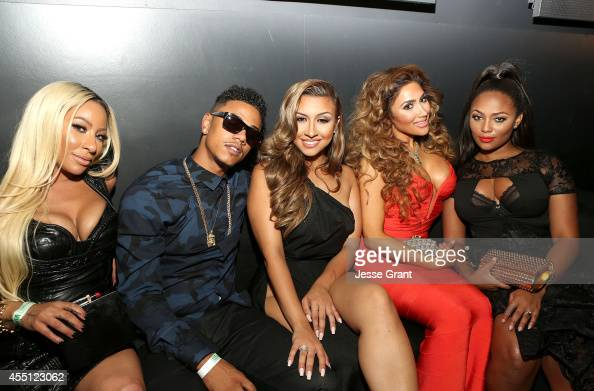 TV personalities HazelE Fizz Amanda Secor Nikki Mudarris and Teairra Mari attend the Love Hip Hop Hollywood Premiere Event on September 9 2014 in...