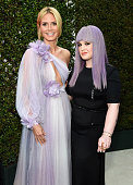 TV personalities Heidi Klum and Kelly Osbourne attend the 24th Annual Elton John AIDS Foundation's Oscar Viewing Party at The City of West Hollywood...