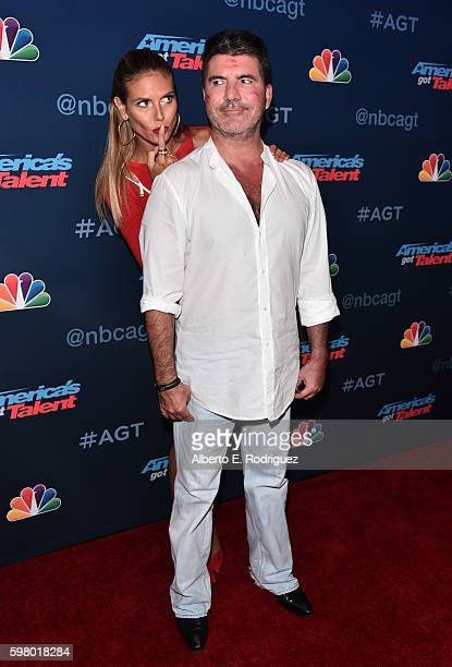 TV personalities Heidi Klum and Simon Cowell attend the 'America's Got Talent' Season 11 Live Show at The Dolby Theatre on August 30 2016 in...