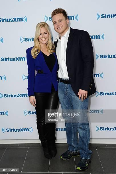 TV personalities Heidi Montag and Spencer Pratt visit SiriusXM Studios on January 6 2015 in New York City