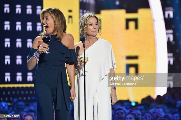 TV personalities Hoda Kotb and Kathie Lee Gifford speak onstage during the 2017 CMT Music Awards at the Music City Center on June 6 2017 in Nashville...