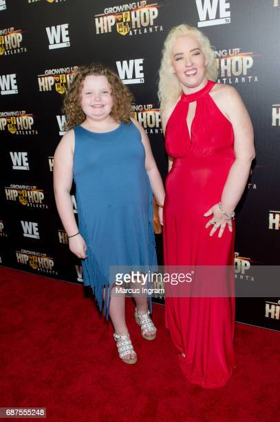 TV personalities Honey Boo Boo and Mama June attend the 'Growing Up Hip Hop Atlanta' premiere at Woodruff Arts Center on May 23 2017 in Atlanta...