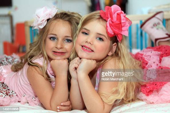 TV personalities Isabella Barrett and Eden Wood attend Tiny Tots Mini Mogul Fashion Event at Babestas on July 26 2012 in New York City