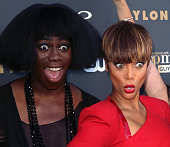 TV personalities J Alexander aka Miss J and Tyra Banks attend 'America's Next Top Model' Cycle 22 premiere party at Greystone Manor on July 28 2015...