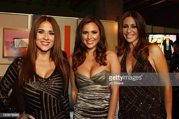 TV Personalities Jackie Guerrido Stephanie Bradford and Ninnette Rios attend KMEX Univision 34 50th Anniversary Celebration at The Roosevelt Hotel on...
