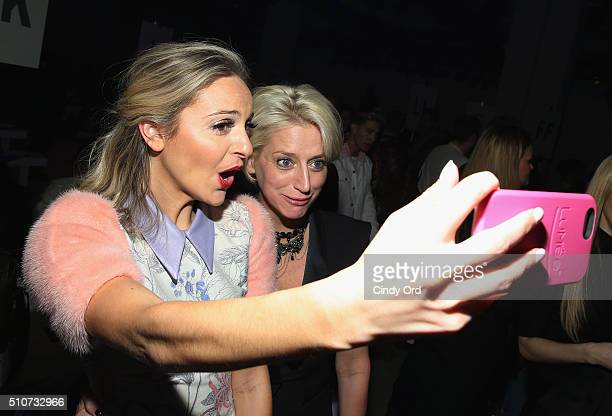 TV personalities Jackie Miranne and Dorinda Medley attend the Georgine Fall 2016 fashion show during New York Fashion Week The Shows at The Gallery...