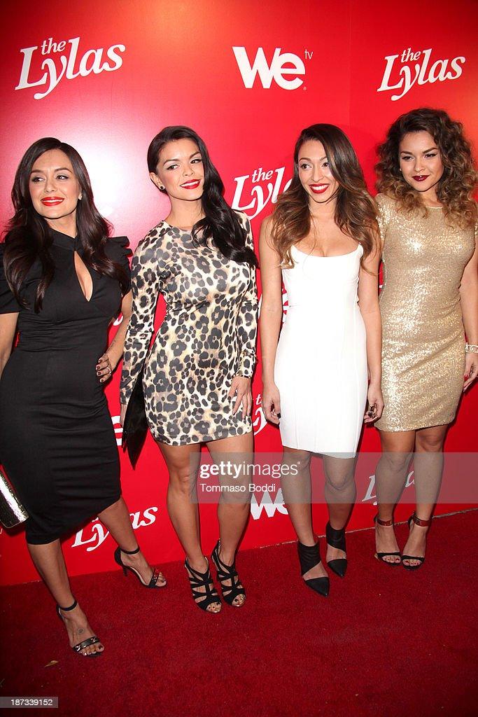 TV personalities Jaime Kailani Bayot, Tahiti Hernandez, Tiara Hernandez and Presley Hernandez attend the WE tv's premiere party for 'The LYLAS' held at the Warwick on November 7, 2013 in Hollywood, California.