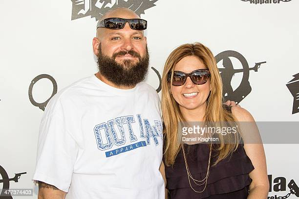 TV personalities Jarrod Schulz and Brandi Passante arrive at the 'Storage Wars' Season 4 Premiere Party at Now Then on March 8 2014 in Orange...