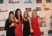 TV personalities Jeana Keough Jo De La Rosa Lauri Peterson and Vicki Gunvalson attend the premiere party for Bravo's 'The Real Housewives of Orange...
