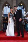 TV personalities Jenni 'Jwoww' Farley and Roger Mathews attend the 2013 MTV Video Music Awards at the Barclays Center on August 25 2013 in the...