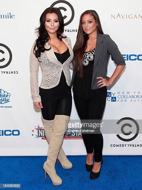 TV personalities Jenni 'JWoww' Farley and Sammi Giancola attend Comedy Central's Night of Too Many Stars America Comes Together for Autism Programs...