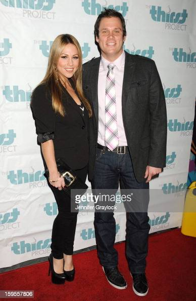 TV personalities Jessica Hall and Bob Guiney attend the Thirst Project Charity Cocktail Party held at Lexington Social House on January 15 2013 in...