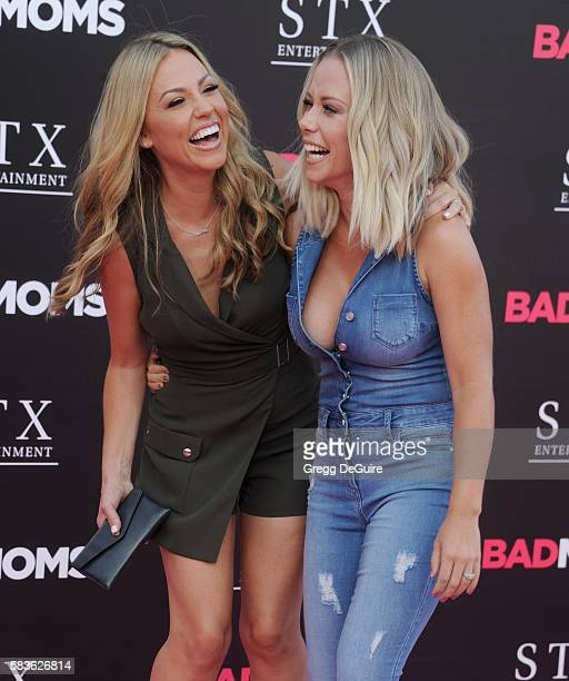 TV personalities Jessica Hall and Kendra Wilkinson arrive at the premiere of STX Entertainment's 'Bad Moms' at Mann Village Theatre on July 26 2016...