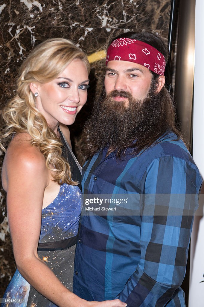 TV personalities Jessica Robertson (L) and Jep Robertson attend the Evening By Sherri Hill Spring 2014 show at Trump Tower on September 9, 2013 in New York City.