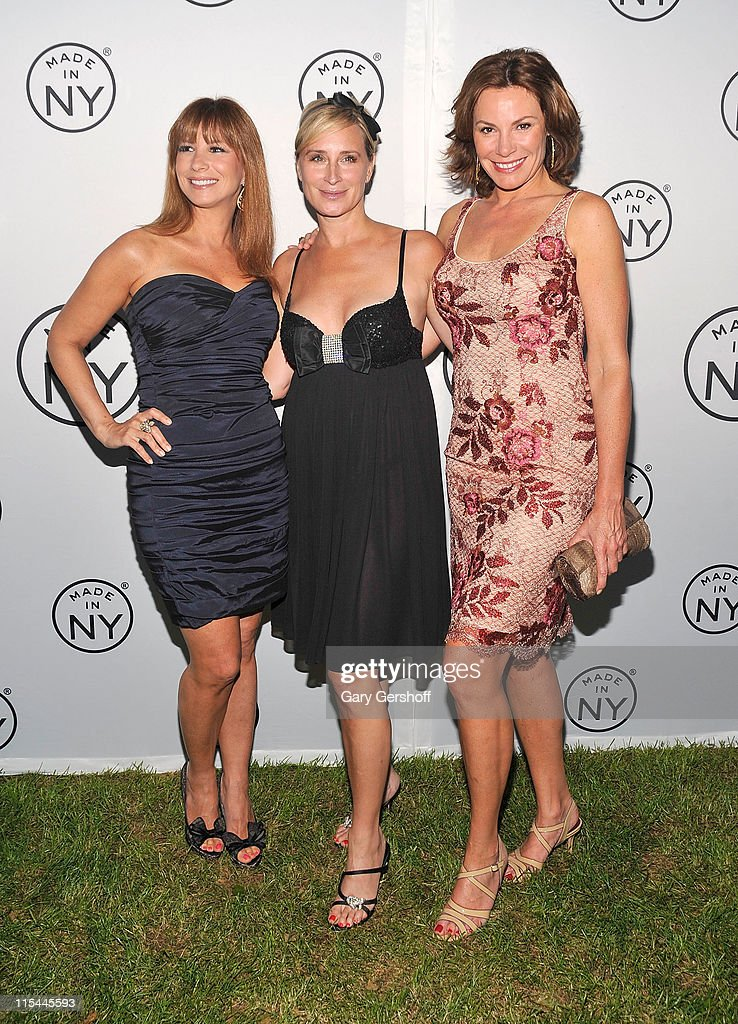 TV personalities Jill Zarin, Sonja Morgan, and LuAnn de Lesseps attend the 6th annual Made In NY awards at Gracie Mansion on June 6, 2011 in New York City.