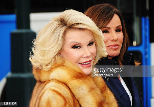 Personalities Joan Rivers and Melissa Rivers attend Gray Line New York honors WE tv stars Joan Melissa Rivers at Pier 78 on March 1 2013 in New York...