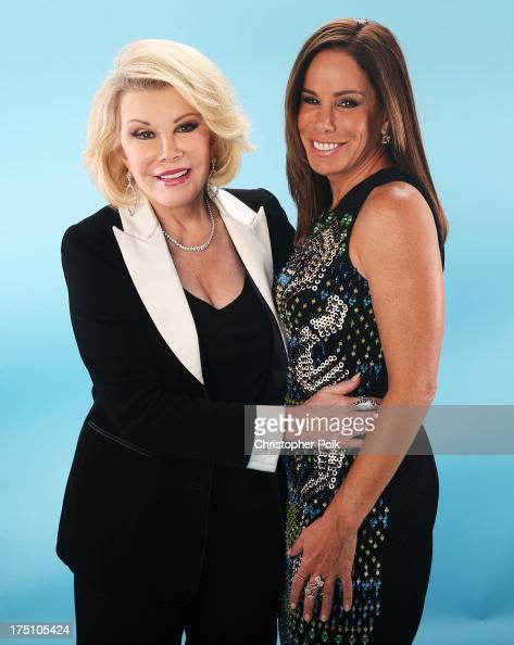 TV personalities Joan Rivers and Melissa Rivers pose for a portrait at the DoSomethingorg and VH1's 2013 Do Something Awards at Avalon on July 31...