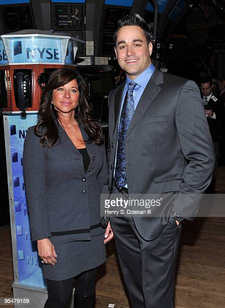 Personalities JoAnn Ward and Steven Ward attend the ringing of the opening bell at the New York Stock Exchange on December 29 2009 in New York City