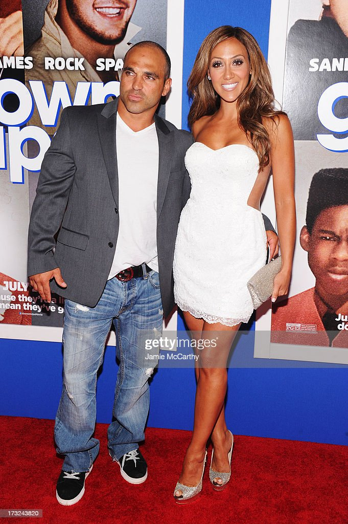 TV personalities Joe Gorga (L) and <a gi-track='captionPersonalityLinkClicked' href=/galleries/search?phrase=Melissa+Gorga&family=editorial&specificpeople=7306775 ng-click='$event.stopPropagation()'>Melissa Gorga</a> attend the 'Grown Ups 2' New York Premiere at AMC Lincoln Square Theater on July 10, 2013 in New York City.