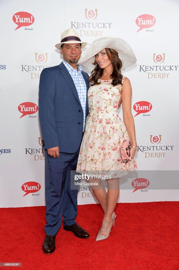 TV personalities Joe Gregorio (L) Danielle Gregorio attend 140th Kentucky Derby at Churchill Downs on May 3, 2014 in Louisville, Kentucky.