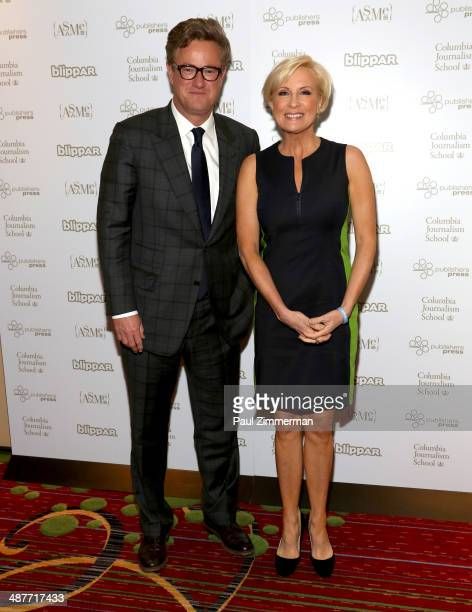 TV personalities Joe Scarborough and Mika Brzezinski of MSNBC attend the 2014 National Magazine Awards at The New York Marriott Marquis on May 1 2014...