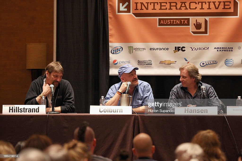 TV personalities Jonathan Hillstrand, Keith Colburn and Sig Hansen speak onstage at Deadliest Catch's Twitter For Tough Guys during the 2013 SXSW Music, Film + Interactive Festival at Hyatt Regency Austin on March 9, 2013 in Austin, Texas.