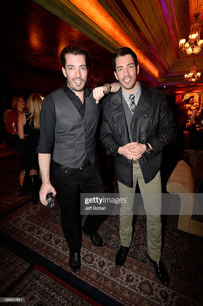 TV personalities Jonathan Scott (L) and <a gi-track='captionPersonalityLinkClicked' href=/galleries/search?phrase=Drew+Scott+-+Canadian+Actor&family=editorial&specificpeople=15095917 ng-click='$event.stopPropagation()'>Drew Scott</a> attend the Big Machine Label Group Crown Royal after party for the American Country Awards 2013 at the House of Blues Las Vegas Foundation Room inside the Mandalay Bay Resort and Casino on December 10, 2013 in Las Vegas, Nevada.