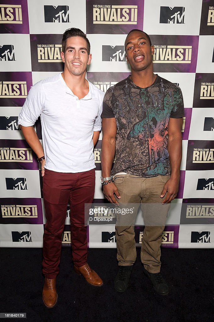 TV personalities Jordan Wiseley (L) and Marlon Williams attend MTV's 'The Challenge: Rivals II' Final Episode and Reunion Party at Chelsea Studio on September 25, 2013 in New York City.