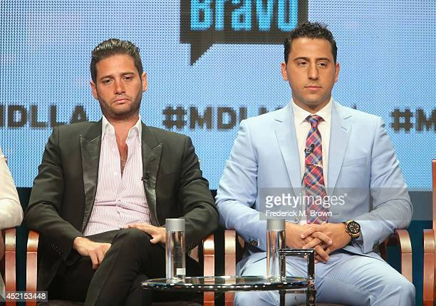 TV personalities Josh Flagg and Josh Altman speak onstage at the 'Million Dollar Listing' panel during the NBCUniversal Bravo portion of the 2014...