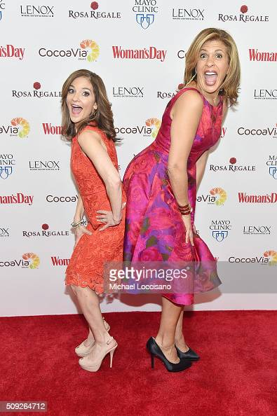 TV personalities Joy Bauer and Hoda Kotb attend the 2016 Woman's Day Red Dress Awards on February 9 2016 in New York City