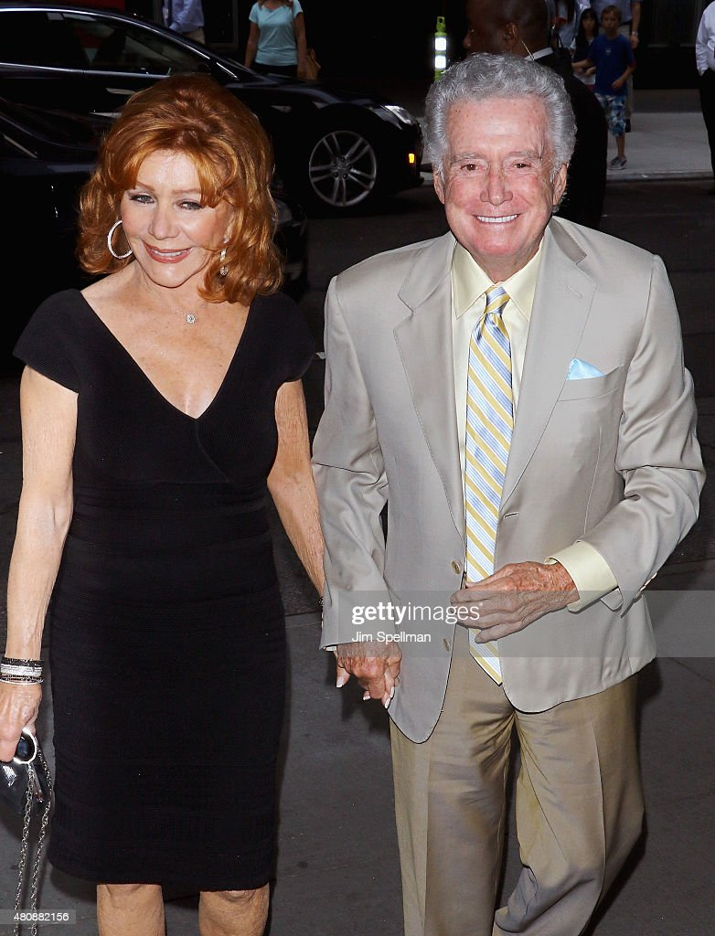 TV Personalities Joy Philbin and Regis Philbin attend The Cinema Society with FIJI Water & Metropolitan Capital Bank host a screening of Sony Pictures Classics' 'Irrational Man' at Museum of Modern Art on July 15, 2015 in New York City.