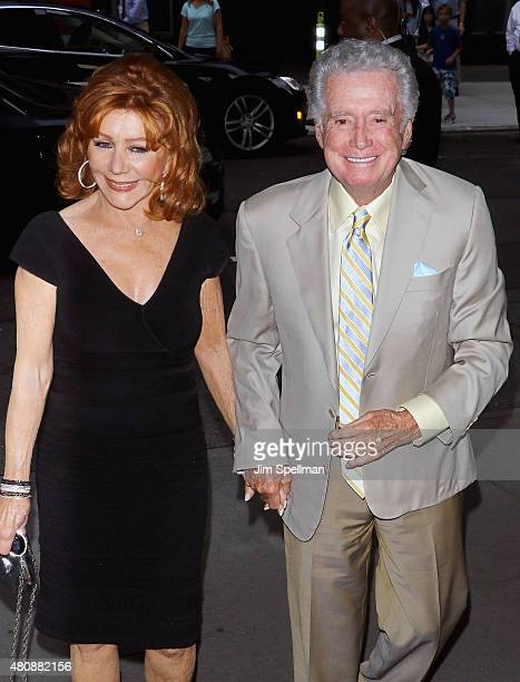 Personalities Joy Philbin and Regis Philbin attend The Cinema Society with FIJI Water Metropolitan Capital Bank host a screening of Sony Pictures...