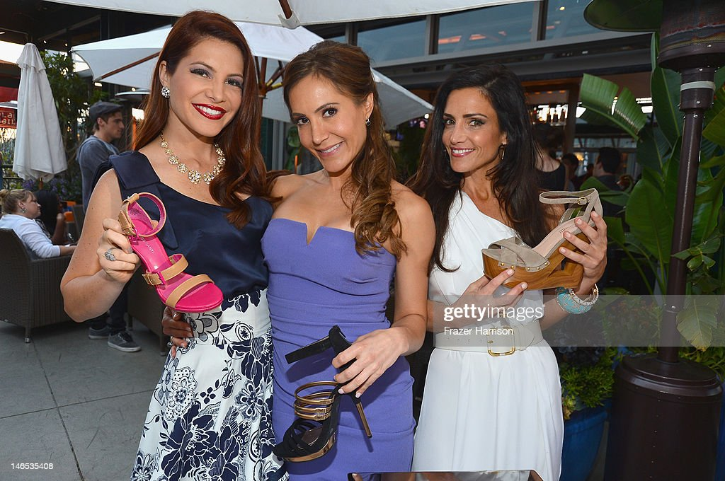 "TV Personalities Julia Allison, Amy Laurent and Emily Morse in the Sole Society Shoe Lounge at the season premiere viewing party of Bravo's ""Miss Advised,"" hosted by Executive Producer Ashley Tisdale held at Planet Dailies & Mixology 101 on June 18, 2012 in Los Angeles, California."