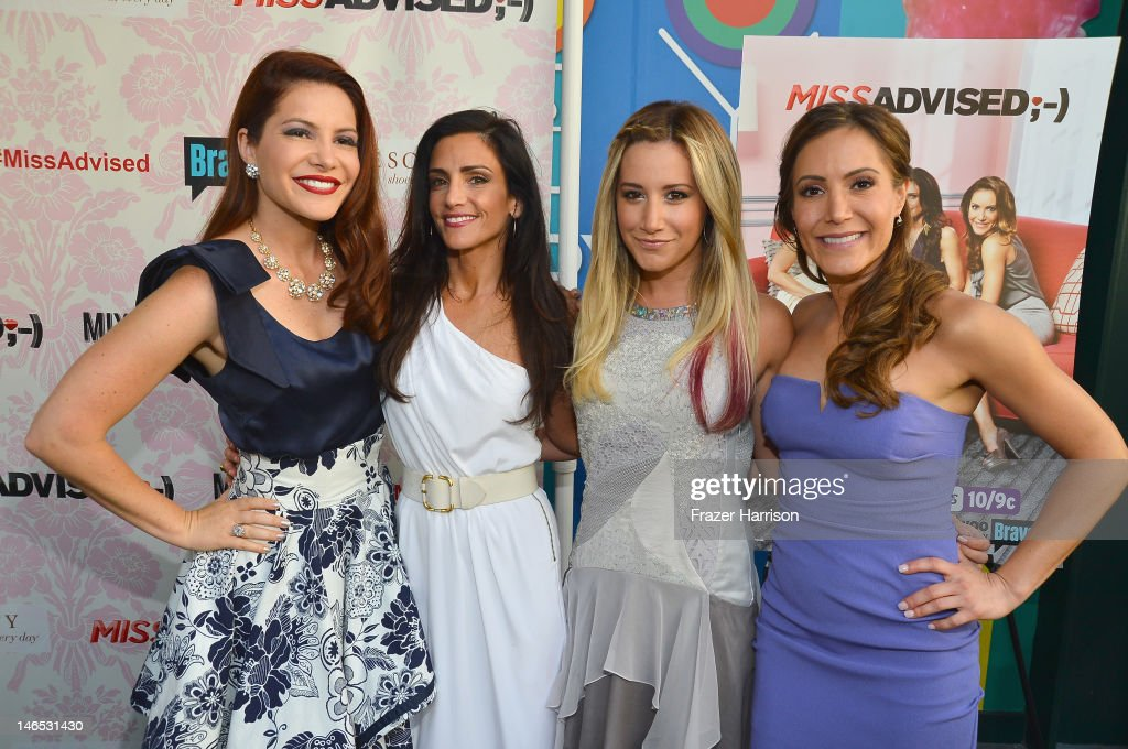 TV Personalities Julia Allison, Emily Morse, executive producer <a gi-track='captionPersonalityLinkClicked' href=/galleries/search?phrase=Ashley+Tisdale&family=editorial&specificpeople=213972 ng-click='$event.stopPropagation()'>Ashley Tisdale</a> and TV personality Amy Laurent attend the season premiere viewing party of Bravo's 'Miss Advised' hosted by Executive Producer <a gi-track='captionPersonalityLinkClicked' href=/galleries/search?phrase=Ashley+Tisdale&family=editorial&specificpeople=213972 ng-click='$event.stopPropagation()'>Ashley Tisdale</a> held at Planet Dailies & Mixology 101 on June 18, 2012 in Los Angeles, California.
