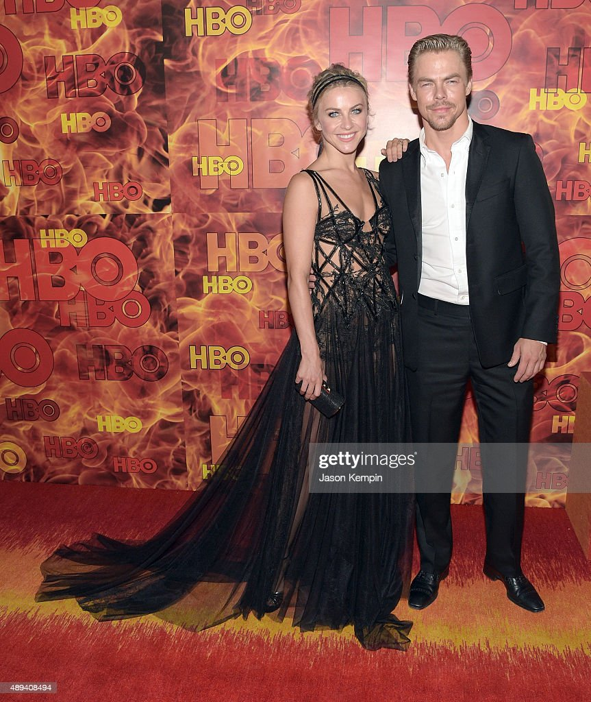 TV personalities Julianne Hough and Derek Hough attend HBO's Official 2015 Emmy After Party at The Plaza at the Pacific Design Center on September 20...