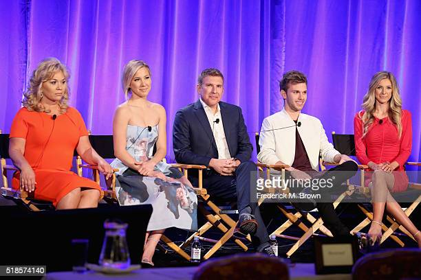 TV personalities Julie Chrisley Savannah Chrisley producer/TV personality Todd Chrisley and TV personalities Chase Chrisley and Lindsie Chrisley...