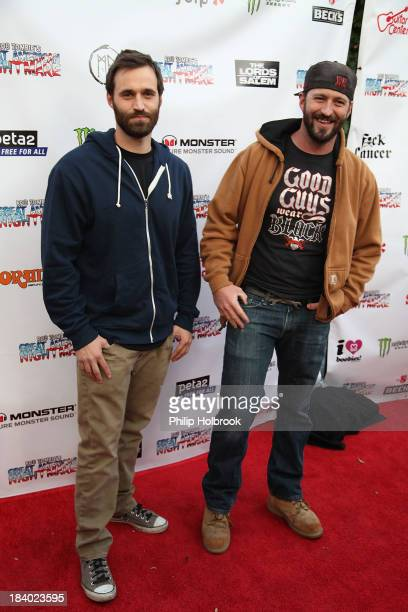 TV Personalities Justin and Jake Blecha arrive at the VIP opening night party at Rob Zombie's Great American Nightmare held at the Fairplex on...