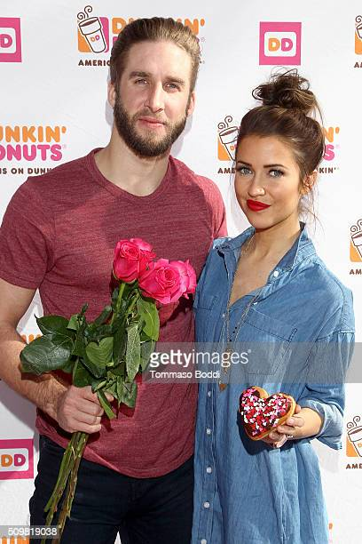 Personalities Kaitlyn Bristowe and Shawn Boothe Celebrate Their 1st Valentine's Day Together With Dunkin' Donuts HeartShaped Donuts held at Dunkin...