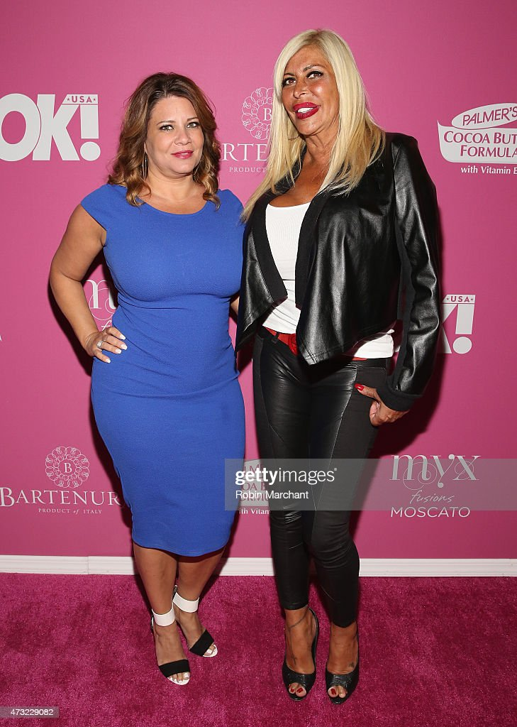 Personalities Karen Gravano and Angela 'Big Ang' Raiola attend OK Magazine's So Sexy NYC Event at HAUS Nightclub on May 13 2015 in New York City