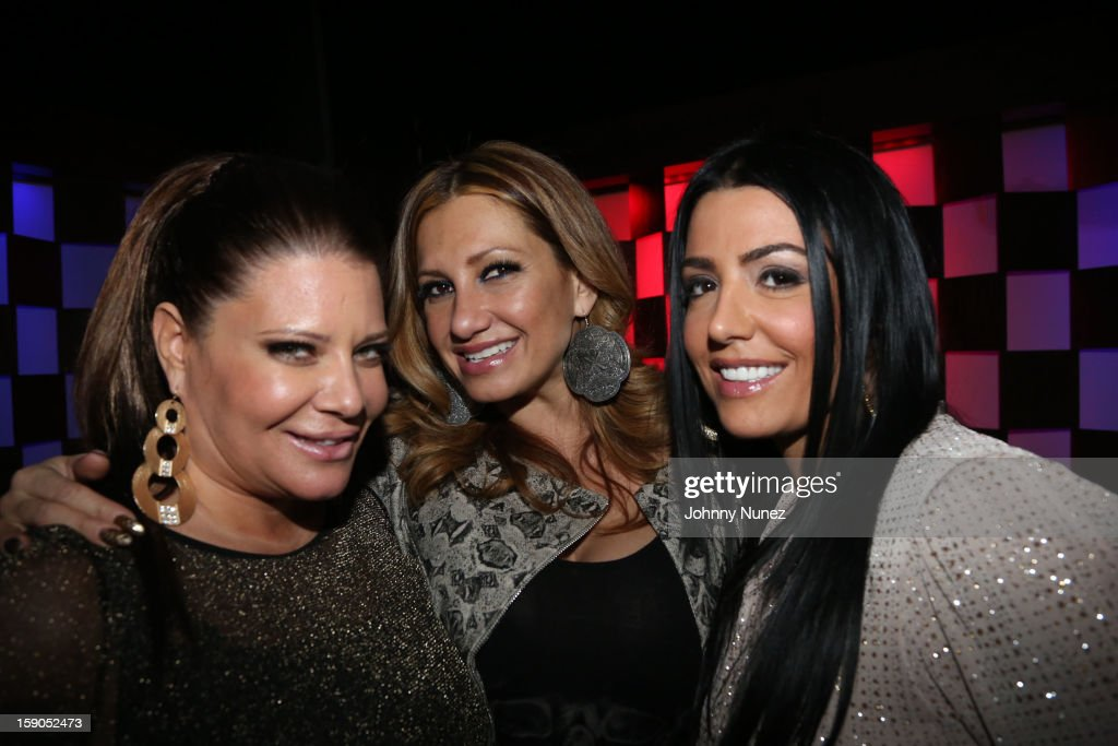 TV personalities Karen Gravano, Love Majewski and Ramona Rizzo attend VH1's 'Mobwives' Season 3 Premiere Viewing Party at Frames Bowling Lounge on January 6, 2013 in New York City.