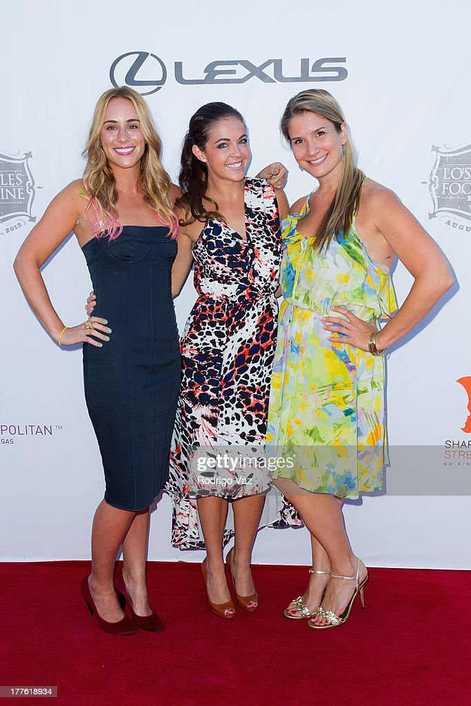 TV personalities Kat Odell, Jessica Miller and Brenda Urban attend LEXUS Live On Grand at the 3rd Annual Los Angeles Food & Wine Festival Arrivals on August 24, 2013 in Los Angeles, California.