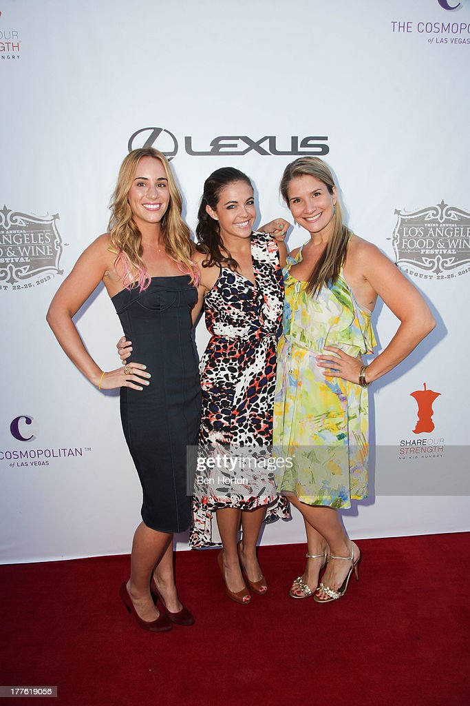 TV personalities Kat Odell, Jessica Miller, and Brenda Urban attend LEXUS Live on Grand hosted by Curtis Stone at the third annual Los Angeles Food & Wine Festival on August 24, 2013 in Los Angeles, California.