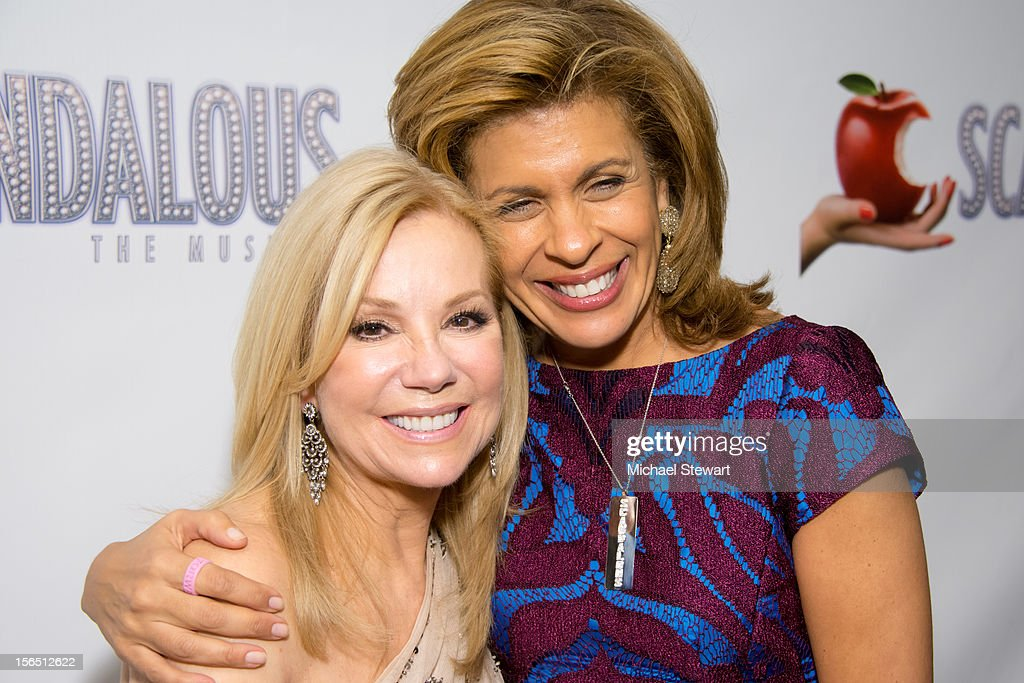 TV personalities <a gi-track='captionPersonalityLinkClicked' href=/galleries/search?phrase=Kathie+Lee+Gifford&family=editorial&specificpeople=203269 ng-click='$event.stopPropagation()'>Kathie Lee Gifford</a> (L) and <a gi-track='captionPersonalityLinkClicked' href=/galleries/search?phrase=Hoda+Kotb&family=editorial&specificpeople=2338013 ng-click='$event.stopPropagation()'>Hoda Kotb</a> attend the 'Scandalous' Broadway Opening Night after party at Copacabana on November 15, 2012 in New York City.