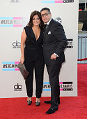 TV personalities Kathy Wakile and Richie Wakile attend the 2013 American Music Awards at Nokia Theatre LA Live on November 24 2013 in Los Angeles...